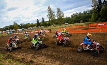 Sadalīti Latvijas čempionu tituli motokrosā kvadracikliem un blakusvāģiem