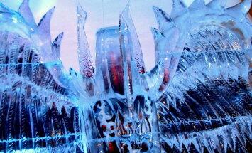 Jelgavas ledus skulptūru festivālā triumfē Krievijas un Latvijas mākslinieki