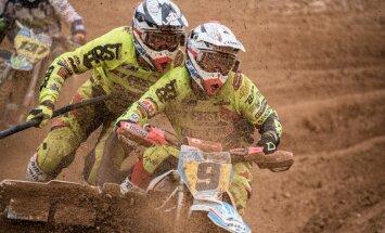 Žiro un Mucenieks triumfē PČ blakusvāģu motokrosa Šveices posma kvalifikācijā