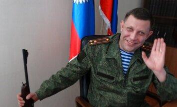 Doņeckas separātistu līderis Zaharčenko atsakās no domas par 'Mazkrieviju'