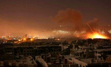 Karte: Sīrijas armija Damaskas pievārtē sakur uguni