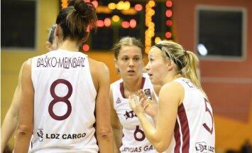 Latvijas basketbolistes pārbaudes spēlē zaudē Eiropas čempionei Serbijai