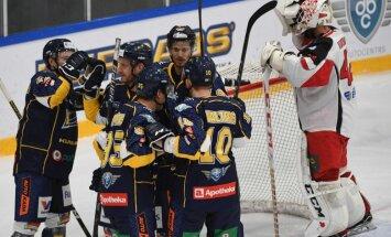'Kurbads' hokejisti ar graujošu uzvaru Rīgā uzsāk IIHF Kontinentālā kausa izcīņu