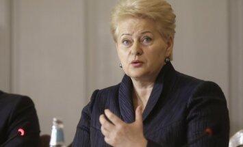 Грибаускайте не будет претендовать на должность генсека ООН