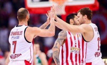 Strēlnieks gūst 22 punktus un ieved 'Olympiakos' Grieķijas čempionāta finālā