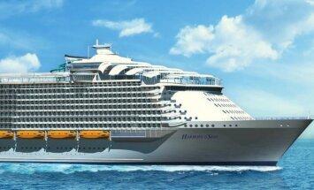 Jau nākamā gada aprīlī pirmajā ceļojumā dosies pasaules lielākais kruīza kuģis