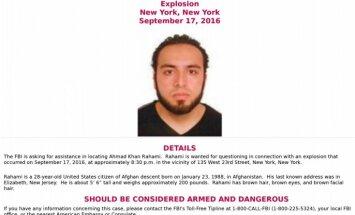 Ņujorkas sprādziens: Policija meklē afgāņu izcelsmes pilsoni