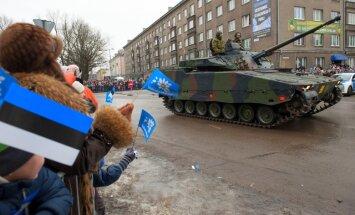 Igaunijā ieradušies visi NATO kaujas grupas karavīri un militārā tehnika