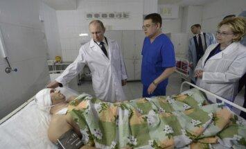 Утром 1 января президент России Владимир Путин прибыл в Волгоград