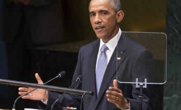 Obama par pasaules apdraudējumu nosaucis Ebolas vīrusu, Krievijas darbības Ukrainā un grupējumu 'Islāma valsts'