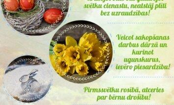 VUGD ieteikumi drošām Lieldienu brīvdienām