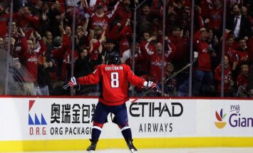 Alex Ovechkin Washington Capitals celebrates 1000th career point