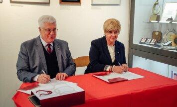 Latvijas Sporta muzejs un LOK paraksta vienošanos par olimpiešu Goda zāles izveidi