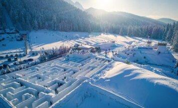 ВИДЕО: В польском Закопане построили самый большой в мире снежный лабиринт