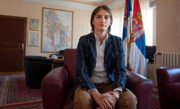 Serbijas premjera amatu pirmo reizi ieņems lesbiete