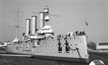 Pēdējie jūrnieki atstājuši kreiseri 'Aurora'