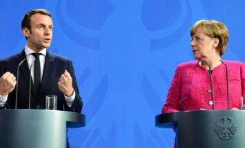 Merkele atbalsta Makrona ideju par eirozonas budžetu un finanšu ministru