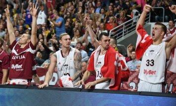 Latvijas basketbolisti PK kvalifikāciju turpina ar Eiropas čempiones Slovēnijas pieveikšanu