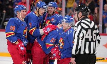 'Jokerit' bez Kalniņa izcīna graujošāko uzvaru KHL; Karsumam neieskaita vārtus pret 'Avtomobiļist'
