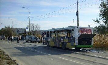 Krievijā satiksmes autobusā uzspridzinās teroriste pašnāvniece; vairāki bojāgājušie