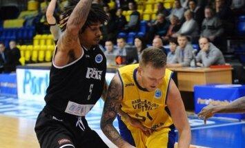 BK 'Ventspils' nodemonstrē bezzobainu sniegumu pirmajā FIBA Eiropas kausa astotdaļfināla spēlē