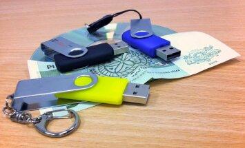Datu nesēju nodeva datoriem būs divi lati; USB atmiņām – 4% no cenas