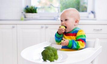 Piecas porcijas dārzeņu un augļu dienā jeb Gadu veca bērna veselīga ēdināšana