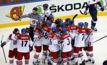 Klepišs pagarinājumā izrauj Čehijas hokeja izlases uzvaru pār Slovākiju