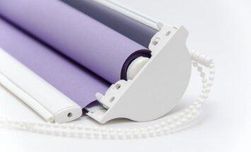 Kā no aizkaru auduma izveidot rullo žalūziju?