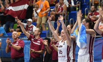 Latvijas basketbolistes Eiropas čempionāta astotdaļfinālā tiksies ar titula īpašniecēm serbietēm