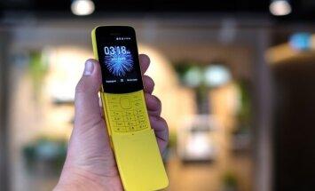 Leģendārais 'Nokia 8110' jeb 'banāntelefons' ienāk Latvijā