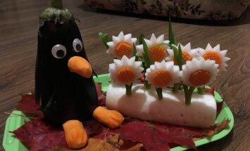 Ēzelis, pingvīns un 'Nike' keda – lasītāji rāda asprātīgas dārzeņu kompozīcijas