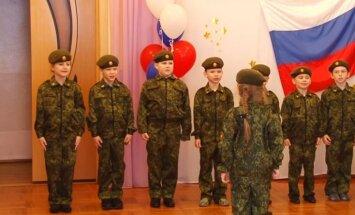 Krievijā atklāj bērndārznieku militāro klubiņu 'Rezerve'