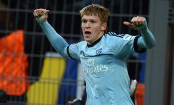 Rudņevs atgūst vietu HSV pamatsastāvā; Hamburgas klubs joprojām bez uzvarām
