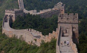 Lietusgāžu dēļ sagruvis Lielā Ķīnas mūra posms