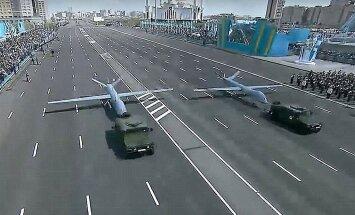 Kazahstāna bruņojas: parādē demonstrē no Izraēlas, Krievijas un Ķīnas iepirktus dronus