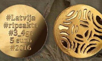 Latvijas Banka izlaiž kolekcijas monētu 'Zelta saktas. Ripsakta'