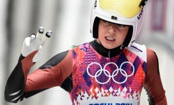 Latvijas kamaniņu braucējas apmierinātas ar olimpisko debiju