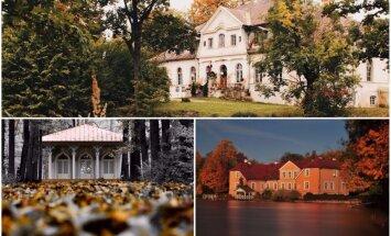 Gleznaini foto: Latvijas pilis un muižas iemūžinātas rudenīgās bildēs
