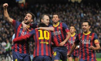 'Barcelona' un 'Paris St.Germain' sper soli pretī Čempionu līgas ceturtdaļfinālam