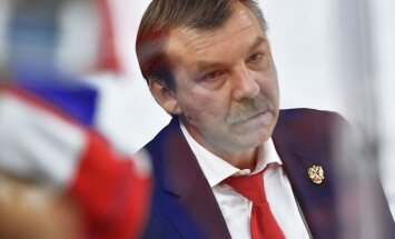 Russian national ice hockey team head coach Oleg Znarok