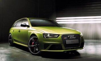 Ekskluzīvs 'Audi RS4' salātu zaļajā 'Porsche' krāsā