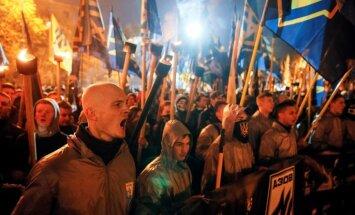 В Киеве прошел марш националистов в годовщину создания УПА