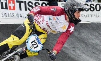 BMX braucējs Treimanis jauno Eiropas kausa sezonu sāk ar astoto vietu