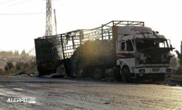 Humāno konvoju Sīrijā sabombardēja krievu Su-24, paziņo ASV