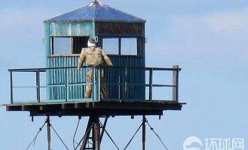 Krievijas-Ķīnas robežu apsargā putnubiedēklis, ziņo aculiecinieks