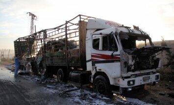 Uzbrukums ANO palīdzības konvojam Alepo bija gaisa trieciens, atzīst eksperts