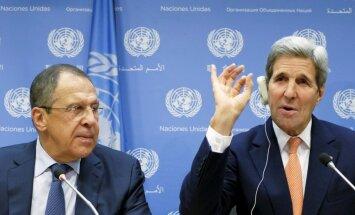 Kerijs un Lavrovs apspriedīs konfliktus Sīrijā un Ukrainā