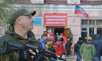 'Delfi' Ukrainā: 'Doņeckas vēlēšanu izrādes' iznākums ir jau zināms iepriekš