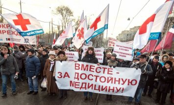 Krievijas mediķi protestē pret reformām veselības aprūpes sistēmā